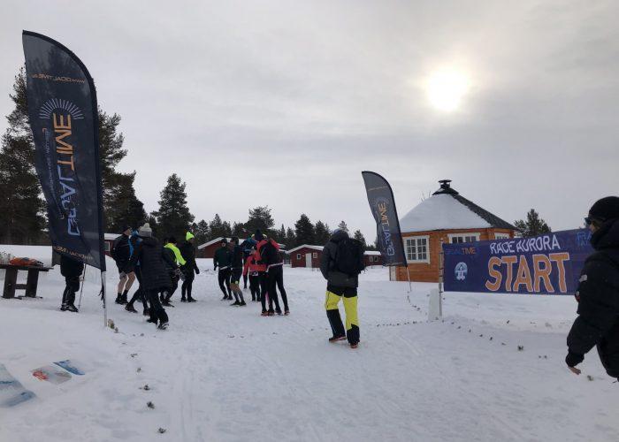Départ de la première étape - Race Aurora 2019